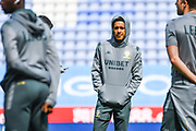 Leeds United forward Helder Costa (17) arrives at the ground during the EFL Sky Bet Championship match between Wigan Athletic and Leeds United at the DW Stadium, Wigan, England on 17 August 2019.