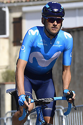 March 15, 2019 - Brignoles, France - BRIGNOLES, FRANCE - MARCH 15 : VALLS FERRI Rafael (ESP) of MOVISTAR TEAM pictured during stage 6 of the 2019 Paris - Nice cycling race with start in Peynier and finish in Brignoles  (176,5 km) on March 15, 2019 in Brignoles, France. (Credit Image: © Panoramic via ZUMA Press)
