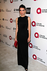 Emily Ratajkowski attending the 22nd Annual Elton John AIDS Foundation Academy Awards Viewing/After Party in West Hollywood,  California, USA,  Sunday, 2nd March 2014. Picture by Hollywood Bubbles / i-Images<br /> UK ONLY