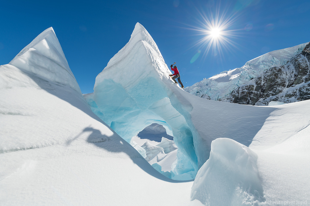 Ant Mountain Guide Ice climbing The Tasman Glacier (Haupapa) which is the largest glacier in New Zealand, and one of several large glaciers which flow south and east towards the Mackenzie Basin from the Southern Alps in New Zealand's South Island.