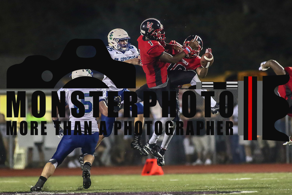 William Penn cornerback ZACHARIAH BURTON (1) deflects the pass during a week one DIAA game between  William Penn and St. Georges, Friday, Sept. 09, 2016 at CARAVEL Academy in Bear, DE.