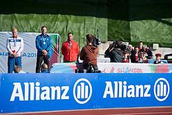 STEINSTAD Runar, SVEINSSON Helgi, OVCHAROV Dechko, 2014 IPC European Athletics Championships, Swansea, Wales, United Kingdom