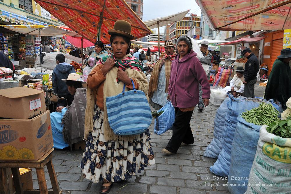 Street market in La Paz, Bolivia