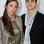 NLD/Amsterdam/20100322 -  Uitreiking Rembrandt Awards 2009, Mounira Hadj Mansour en partner