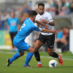 TELFORD COPYRIGHT MIKE SHERIDAN Brendon Daniels of Telford during the National League North fixture between AFC Telford United and Chester FC at the New Bucks Head on Saturday, September 14, 2019<br /> <br /> Picture credit: Mike Sheridan<br /> <br /> MS201920-018
