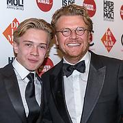 NLD/Amsterdam/20190919 - Premiere Show Johnny de Mol, Bastiaan ragas met zijn zoon