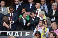 Francois HOLLANDE / Claude BARTOLONE / Patrick KANNER  - 13.06.2015 - Clermont / Stade Francais - Finale Top 14<br />Photo : Nolwenn Le Gouic / Icon Sport