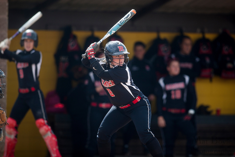 Rutger's Camden Softball  OF/2B Jackie Leafey (8); Rutgers-Camden softball at Rowan University on Tuesday April 10, 2012 in Glassboro, NJ. (photo / Mat Boyle)
