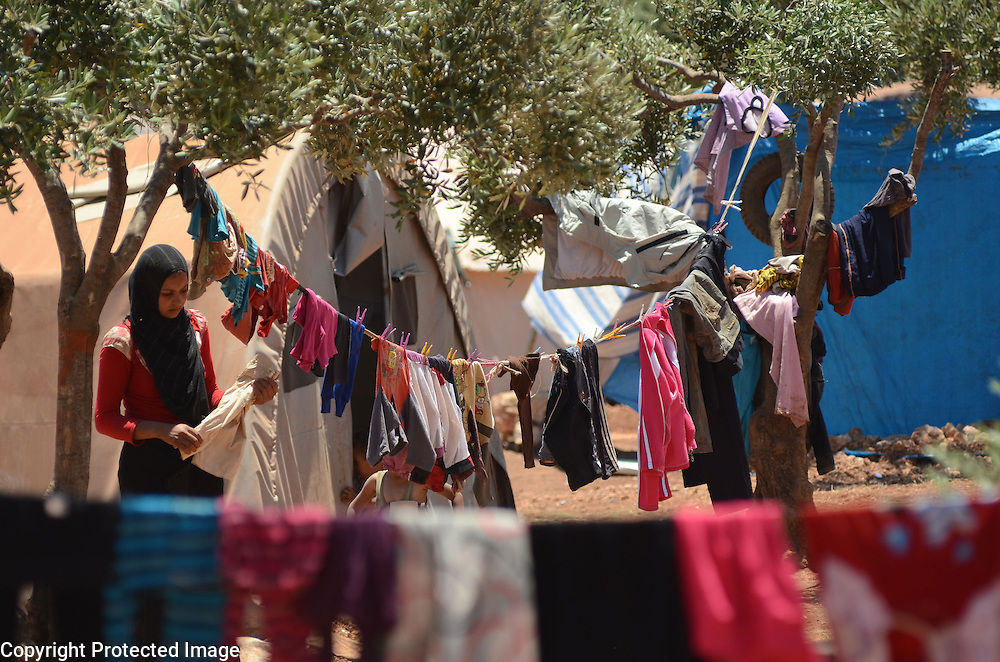 Atmeh Refugee camp Idlib Syria on the border with Turkey home to 20,000 Syria internally displaced refugees