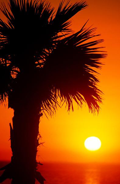 Sunset over Galveston Bay, Texas