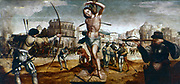The Martyrdom of St Sebastian'. Gregorio Lopez (c1490-1550). Portuguese School: 16th century.