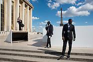 Présidentielles 2012 : Fin du meeting de Nicolas Sarkozy au Trocadéro le 1er mai 2012.