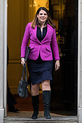 © Licensed to London News Pictures. 09/01/2018. London, UK. Minister of State for Immigration Caroline Noakes leaves 10 Downing Street after the first meeting of the Cabinet after Prime Minister Theresa May's reshuffle. Photo credit: Rob Pinney/LNP