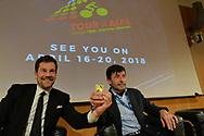 Tour of the Alps 2018, Presentazione a Milano, a sinistraCristian Salvati e Gianni Bugno, 7 novembre 2017 © foto Daniele Mosna