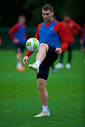 CARDIFF, WALES - Sunday, October 14, 2018: Wales' Sam Vokes during a training session at the Vale Resort ahead of the UEFA Nations League Group Stage League B Group 4 match between Republic of Ireland and Wales. (Pic by David Rawcliffe/Propaganda)
