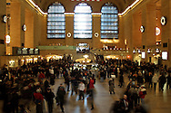 A moment in time on New Year's Eve, 2001, in Grand Central Station in New York City.