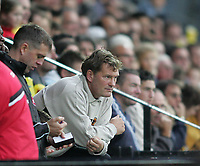 Photo: Lee Earle.<br /> Watford v Wolverhampton Wanderers. Coca Cola Championship. 29/10/2005. Wolves manager Glenn Hoddle.