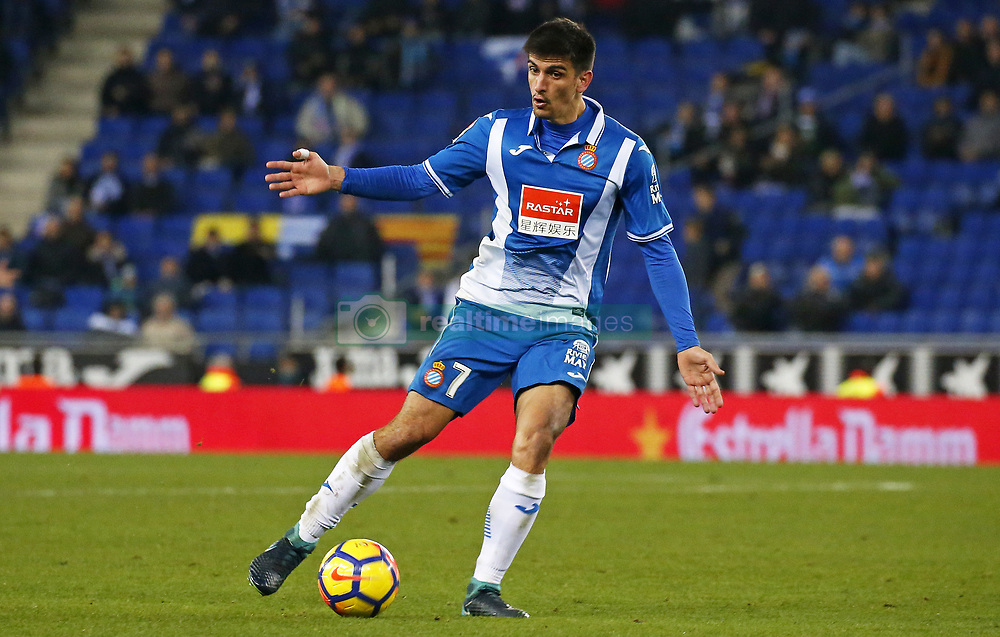 November 27, 2017 - Barcelona, Spain - Gerard Moreno during La Liga match between RCD Espanyol v Real Betis Balompie,in Barcelona, on November 27, 2017. Photo: Joan Valls/Urbanandsport/Nurphoto  (Credit Image: © Joan Valls/NurPhoto via ZUMA Press)