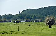 Nederland, the Netherlands, Wageningen, 14-5-2018De Grebbedijk tussen Wageningen en Rhenen ter hoogte van de Blauwe Kamer . . Deze loopt over in de natuurlijke waterkering van de Grebbeberg . In natuurgebied de Blauwe Kamer heeft het water van de Nederrijn vrij spel. Hierdoor is de natuur er voortdurend in beweging. Foto: Flip Franssen