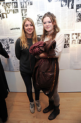 Left to right, CLAUDIA GUINNESS and MOLLY ROWAN-HAMILTON at a private view of photographs by Nick Ashley held at the Sladmore Gallery, 32 Bruton Place, London on 13th January 2010.