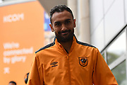 Hull City midfielder Ahmed Elmohamady (27) arriving at the KCOM stadium before  the Premier League match between Hull City and West Ham United at the KCOM Stadium, Kingston upon Hull, England on 1 April 2017. Photo by Ian Lyall.