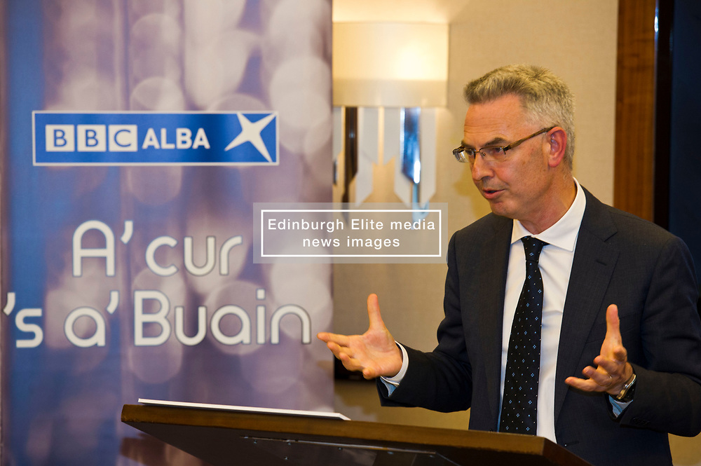 Pictured: Chris Young<br /> <br /> At today's launching of MG ALBA's annual report, Maggie Cunningham, chair of MG ALBA, and Chris Young, Producer of the Inbetweeners it was announced that BBC Alba have agreed a four-year production deal for Bannan<br /> <br /> New multi-year deal to boost production capability and marks investment in creative Gaelic skills.  Funded by MG ALBA, the Gaelic Media Service - one of the partners behind BBC ALBA – the new contract with Young Films secures the future of the channel's drama series, Bannan and marks a significant investment in drama for the channel. <br /> <br /> Filmed on the Isle of Skye, and produced by  Young, 23 episodes of Bannan have been produced since 2014, with five of those due to be aired on BBC ALBA in the autumn. The success of Bannan has led to an international deal being signed for the series with DRG, one of the leading independent distributors of programmes in the world. The new contract, running until 2021, will lead to at least 20 episodes being produced for the channel. The announcement was made prior to a screening of Bannan at the Edinburgh International Film Festival, and coincided with the launch of MG ALBA's annual report for 2016/17. <br />  <br /> <br /> Ger Harley   EEm 25 June 2017