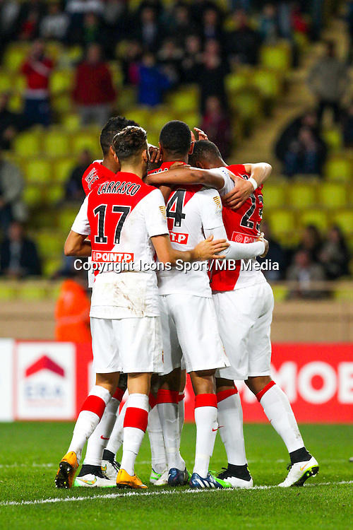 WALLACE / FABINHO / Abdou DIALLO / Anthony MARTIAL / Yannick FERREIRA CARRASCO / Laywin KURZAWA  - 14.01.2015 - Monaco / Guingamp - 1/4Finale Coupe de la Ligue<br /> Photo : Jean Christophe Magnenet / Icon Sport