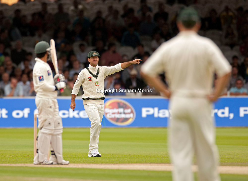 Ricky Ponting captains during the MCC Spirit of Cricket Test Match between Pakistan and Australia at Lord's.  Photo: Graham Morris (Tel: +44(0)20 8969 4192 Email: sales@cricketpix.com) 14/07/10