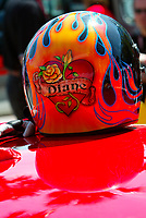 Apr 12, 2003; Long Beach, CA, USA; Actor JOSH BROLIN'S racing helmet with his girlfriend Diane Lane's name on it before @ the 27th Annual Pro/Celebrity Race in Long Beach racing Toyota Celica race cars.  Driving 10 laps on a 1.97 mile track along shoreline drive. <br />