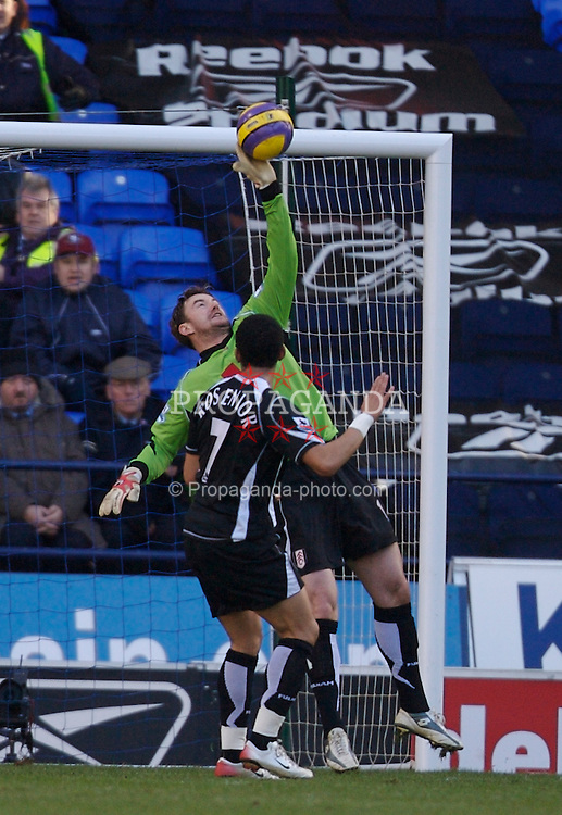 Bolton, England - Sunday, February 11, 2007: Fulham's goalkeeper Jan Lastuvka makes a save from a Bolton Wanderers player during the Premiership match at the Reebok Stadium. (Pic by David Rawcliffe/Propaganda)