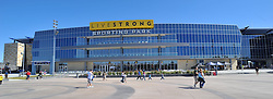 Sept 5, 2011; Kansas City, KS, USA; A general view outside of LIVESTRONG stadium before the soccer match between the LA Galaxy and Sporting KC at LIVESTRONG Sporting Park. Mandatory Credit: Denny Medley-US PRESSWIRE