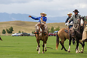 Saddle Bronc riding at the Don King Days Rodeo in Sheridan, Wyoming