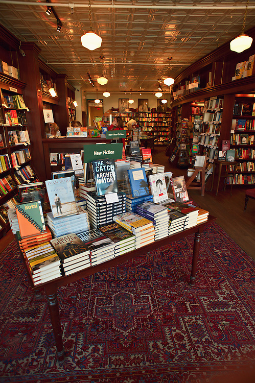 Interior of R.J. Julia Booksellers, Madison, Connecticut, US