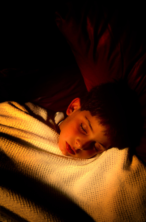 young boy, Brian, sleeping