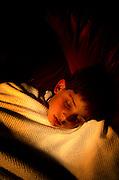 young boy, Brian, sleeping