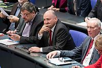 08 NOV 2018, BERLIN/GERMANY:<br /> Bernd Ruetzel (M), MdB, SPD, Bundestagsdebatte zum Gesetzentwurf der Bundesregierung ueber Leistungsverbesserungen und Stabilisierung in der gesetzlichen Rentenversicherung, Plenum, Deutscher Bundestag<br /> IMAGE: 20181108-01-013<br /> KEYWORDS: Sitzung, Bernd Rützel