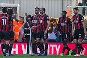 Joshua King (Bournemouth) celebrates his goal with his team mates during the Premier League match between Bournemouth and Arsenal at the Vitality Stadium, Bournemouth, England on 25 November 2018.