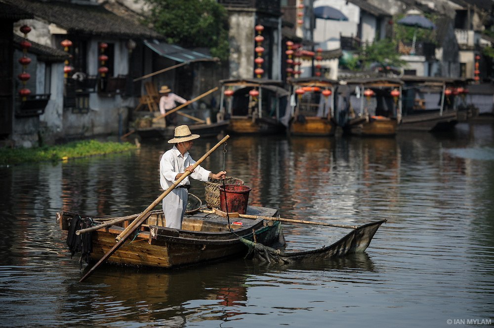 Boatman - Xitang, Zhejiang, China