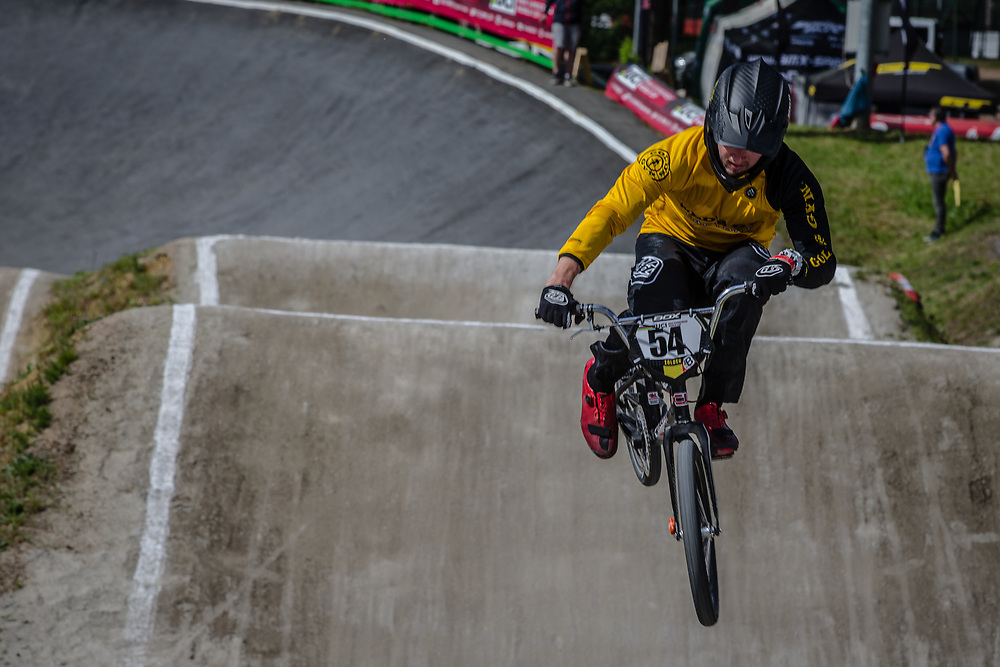 #54 (SEBESTA Tanner) USA during round 4 of the 2017 UCI BMX  Supercross World Cup in Zolder, Belgium.