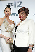 June 30, 2012-Los Angeles, CA : (L-R) Recording Artist Knoelle Higginsen and BET Honoree Vy Higginsen attends the 2012 BET Awards- Media Room held at the Shrine Auditorium on July 1, 2012 in Los Angeles. The BET Awards were established in 2001 by the Black Entertainment Television network to celebrate African Americans and other minorities in music, acting, sports, and other fields of entertainment over the past year. The awards are presented annually, and they are broadcast live on BET. (Photo by Terrence Jennings)