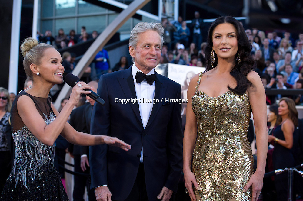 85th Annual Academy Awards - Arrivals Michael Douglas with his wife Catherine Zeta-Jones arrive at the Oscars at Hollywood & Highland Centre, Hollywood, California, February 24, 2013. Photo by Imago / i-Images...UK ONLY