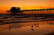 Newport Beach Pier At Sundown
