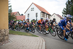 The peloton rides through Eckstedt on Stage 3 of the Lotto Thuringen Ladies Tour - a 124 km road race, starting and finishing in Weimar on July 15, 2017, in Thuringen, Germany. (Photo by Balint Hamvas/Velofocus.com)