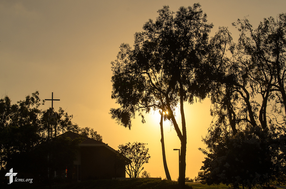 The sun sets over Good Shepherd Chapel at Concordia University Irvine on Wednesday, July 9, 2014, in Irvine, Calif. LCMS Communications/Erik M. Lunsford