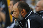 Nuno Espirito Santo during the Europa League play off leg 2 of 2 match between Wolverhampton Wanderers and Torino at Molineux, Wolverhampton, England on 29 August 2019.