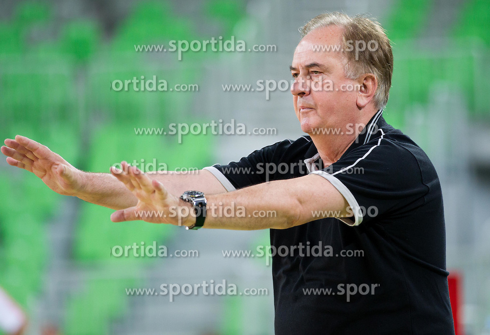 Bozidar Maljkovic, head coach of Slovenia during basketball match between National teams of Slovenia and Croatia in day 2 of Adecco cup, on August 4, 2012 in Arena Stozice, Ljubljana, Slovenia. (Photo by Vid Ponikvar / Sportida.com)