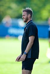 NEWPORT, WALES - Wednesday, July 25, 2018: South head coach Dan Gwyn Hughes during the Welsh Football Trust Cymru Cup 2018 at Dragon Park. (Pic by Paul Greenwood/Propaganda)