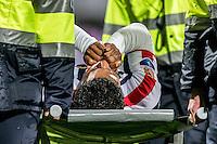 ROTTERDAM - Excelsior - Willem II , Voetbal , Eredivisie , Seizoen 2016/2017 , Stadion Woudestein , 25-02-2017 ,  eindstand 0-2 , Willem II speler Darryl Lachman moet geblesseerd het veld verlaten