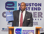 Donald Bowers comments during an East End Chamber of Commerce Education Symposium held at the Federal Reserve Bank, April 27, 2016.