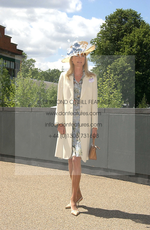 LUCY SANGSTER at the 3rd day - Ladies Day of Roayl Ascot 2006 on 22nd June 2006.<br /><br />NON EXCLUSIVE - WORLD RIGHTS